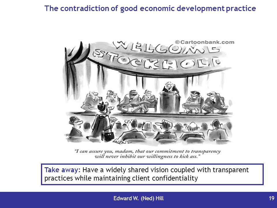 The contradiction of good economic development practice