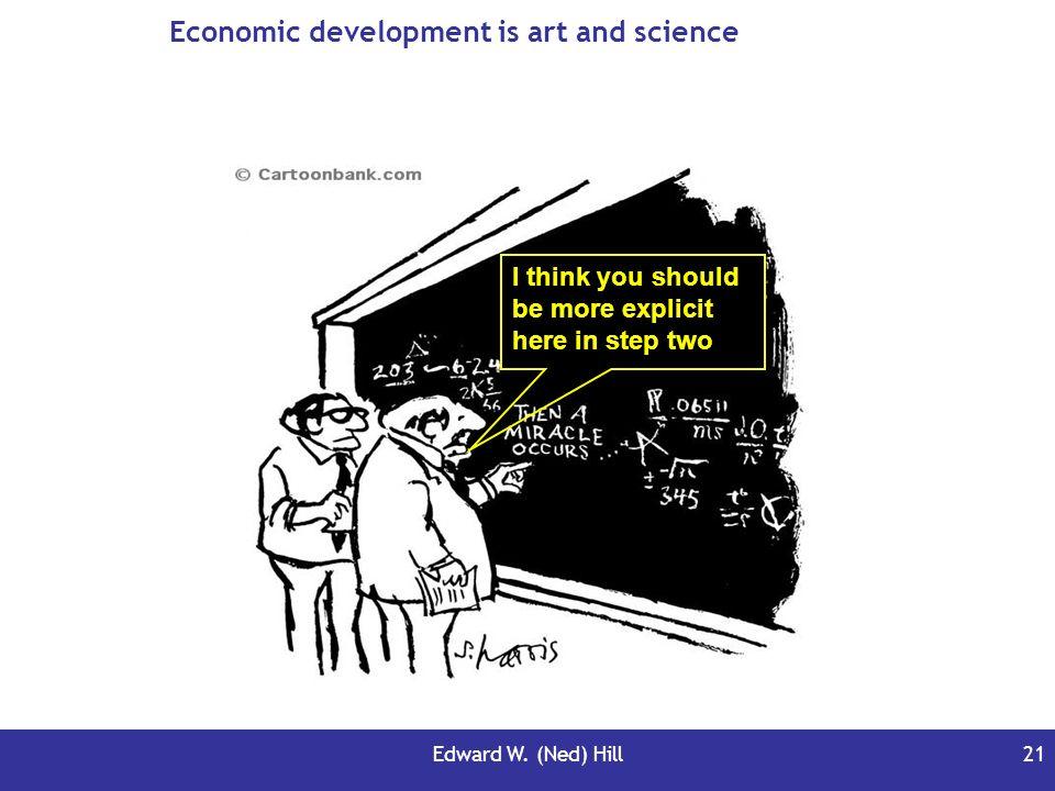 Economic development is art and science