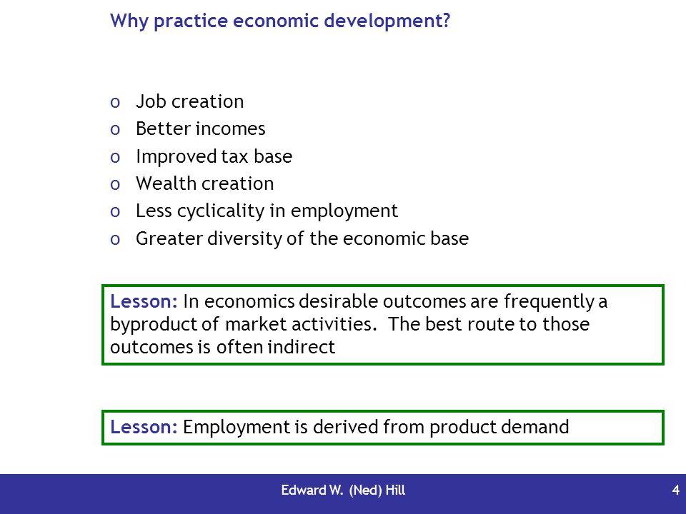 Why practice economic development