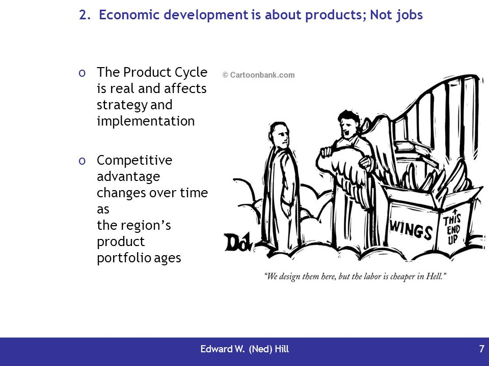 Economic development is about products; Not jobs