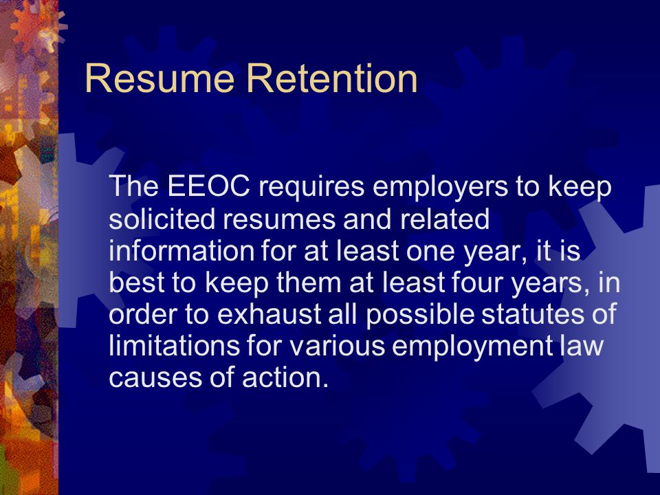 Resume Retention