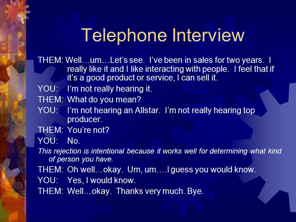 Telephone Interview