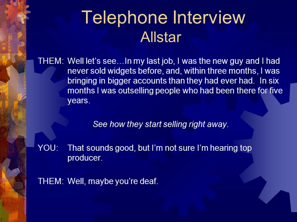 Telephone Interview Allstar