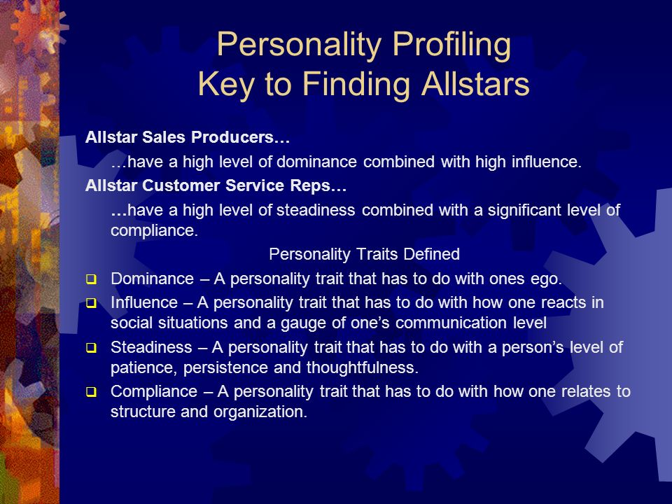 Personality Profiling Key to Finding Allstars