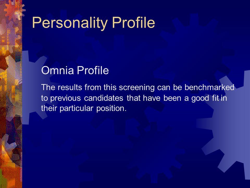 Personality Profile Omnia Profile