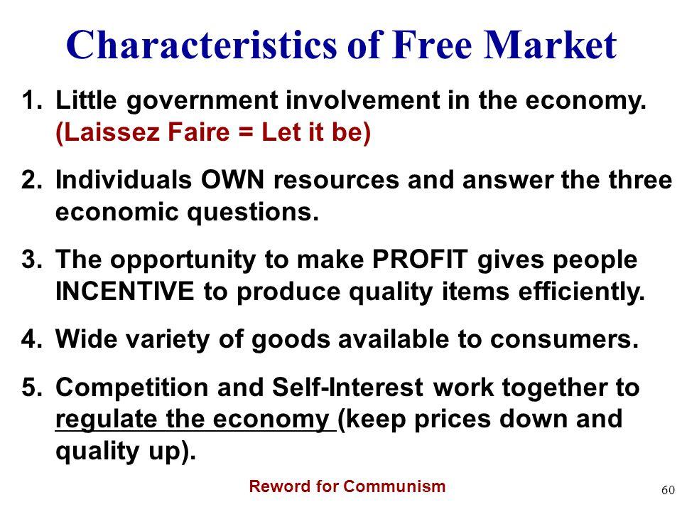 Characteristics of Free Market