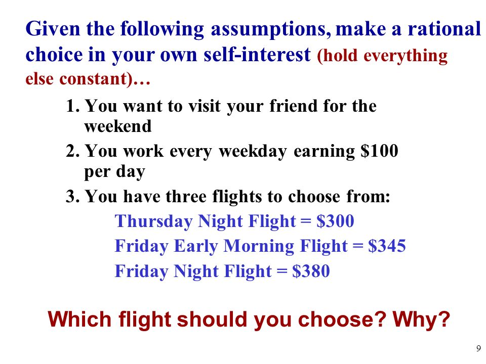 Which flight should you choose Why