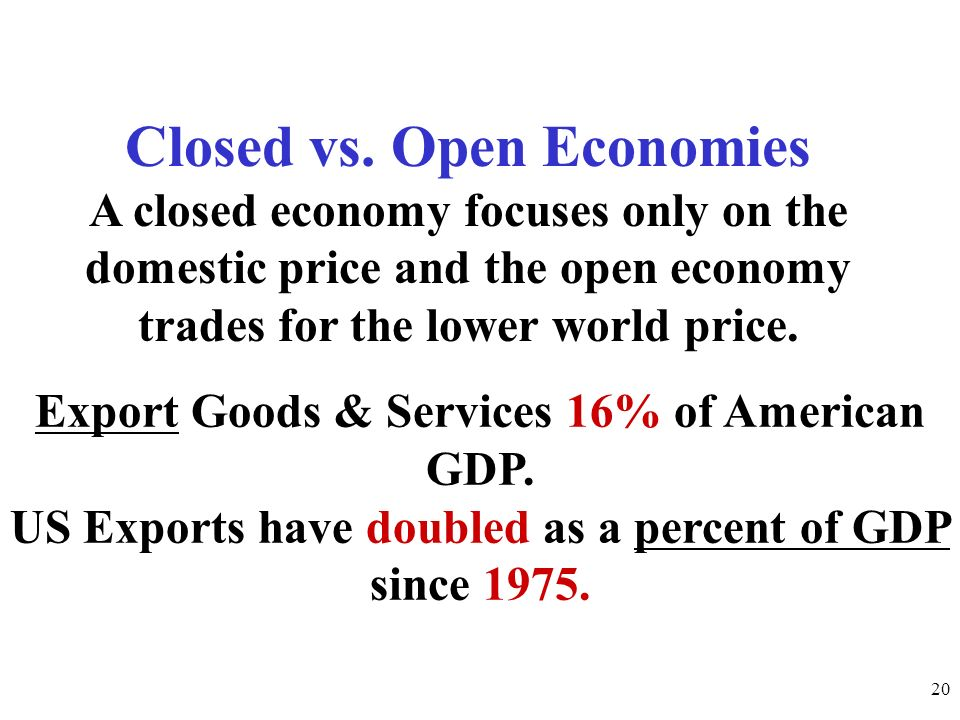 Closed vs. Open Economies