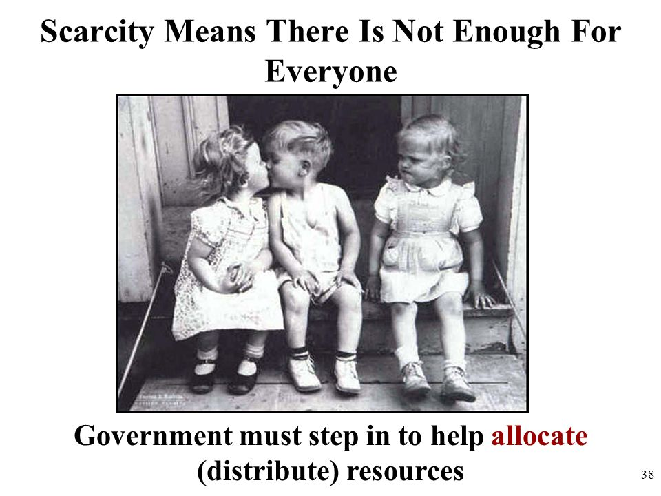 Scarcity Means There Is Not Enough For Everyone