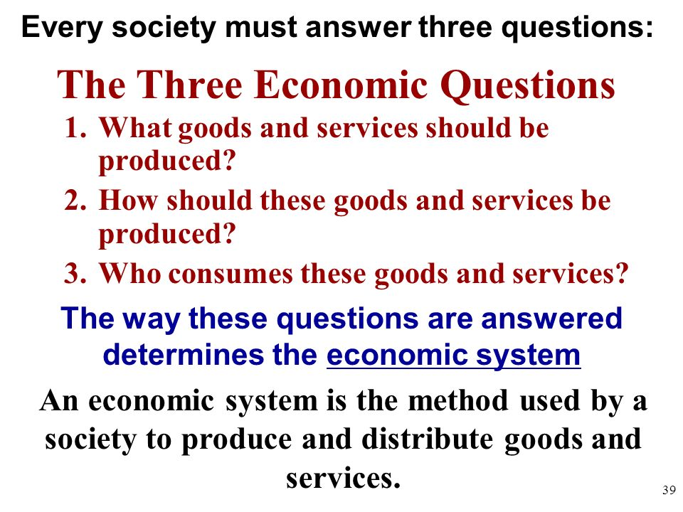 What Are the Four Basic Economic Questions?