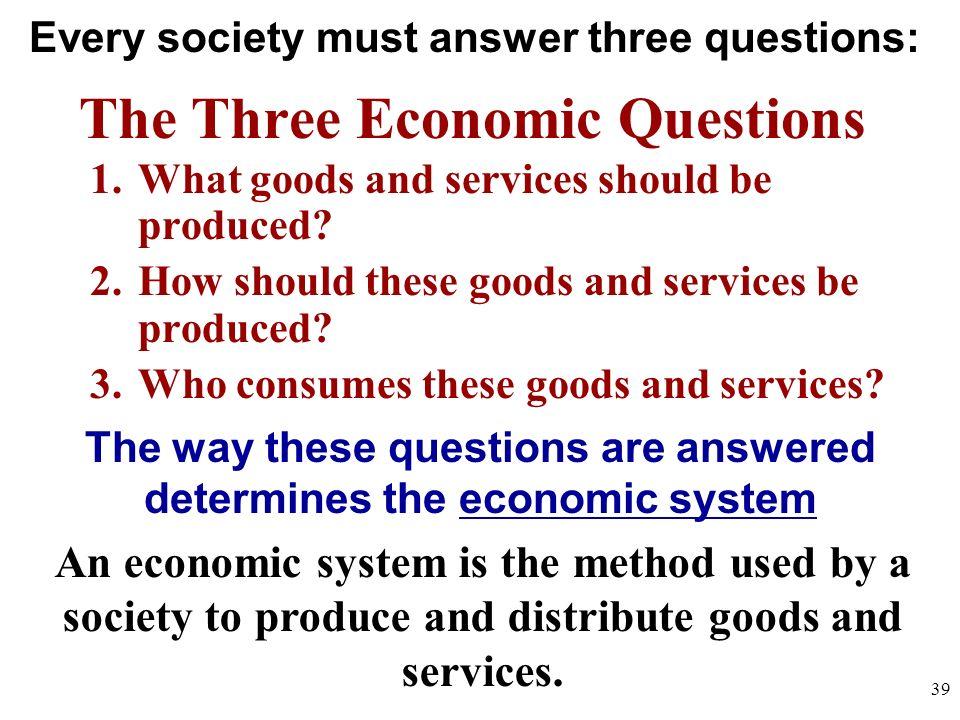 The Three Economic Questions