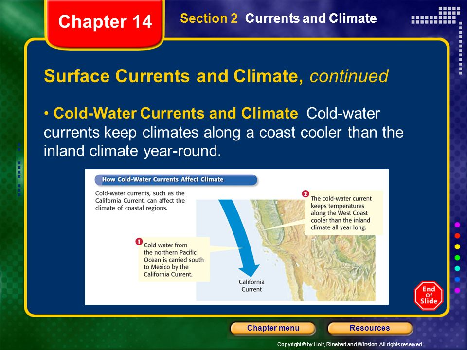 Surface Currents and Climate, continued