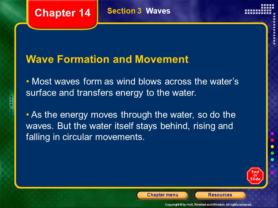 Wave Formation and Movement