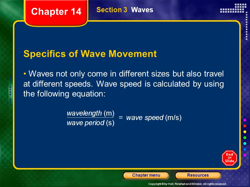Specifics of Wave Movement