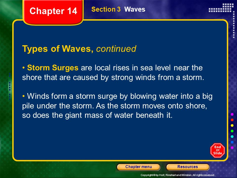 Types of Waves, continued