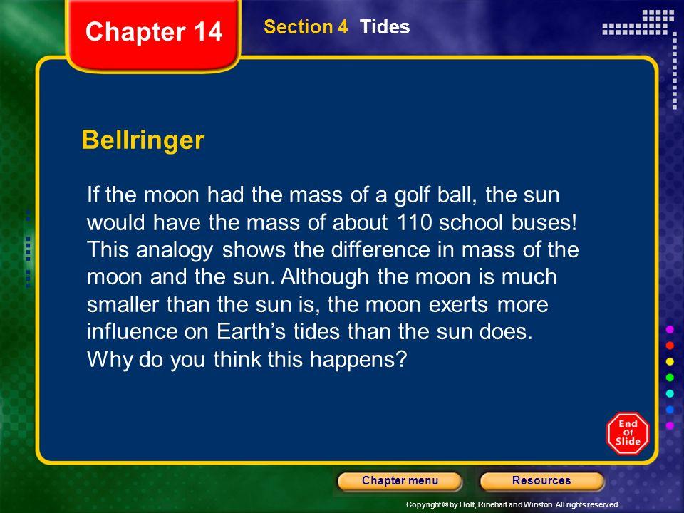 Chapter 14 Section 4 Tides. Bellringer.