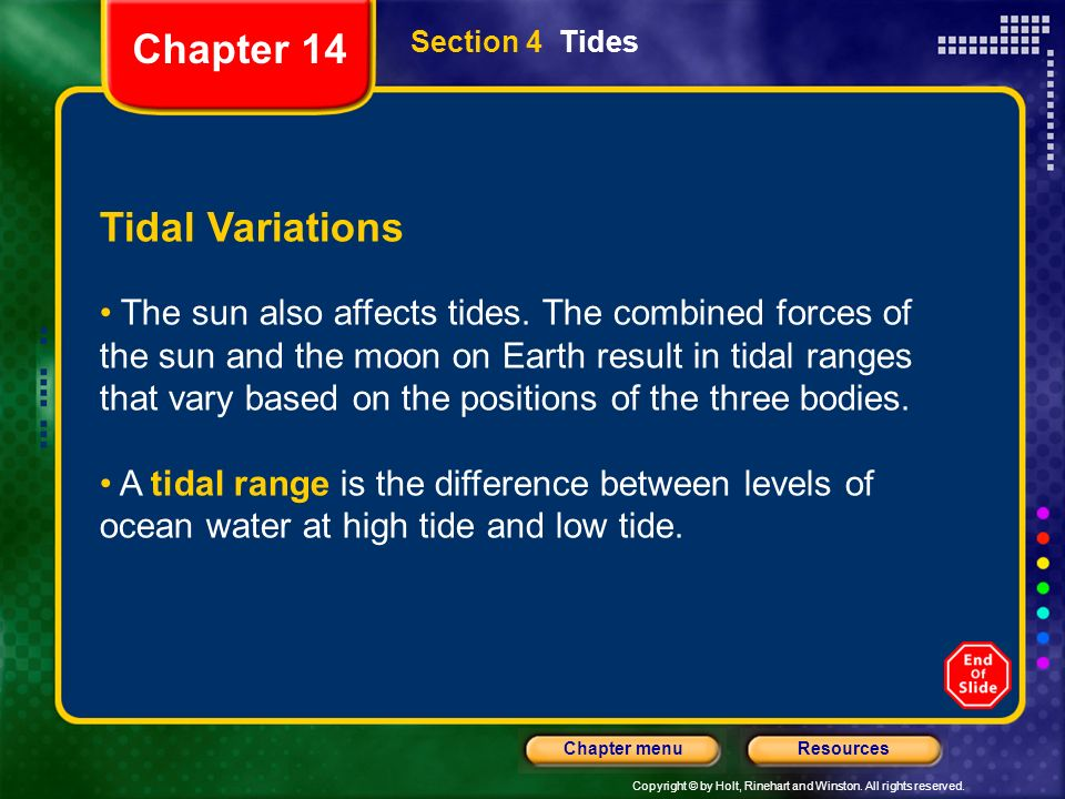 Chapter 14 Tidal Variations