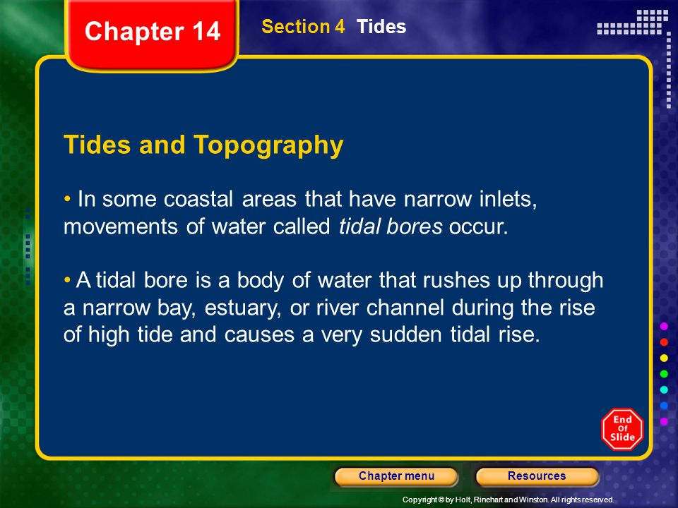 Chapter 14 Tides and Topography