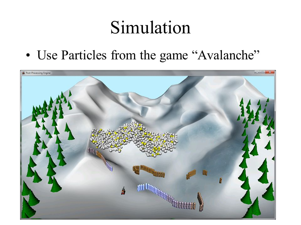 Simulation Use Particles from the game Avalanche