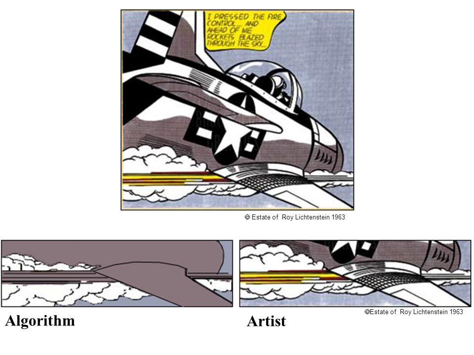 Lichtenstein Algorithm Artist  Estate of Roy Lichtenstein 1963