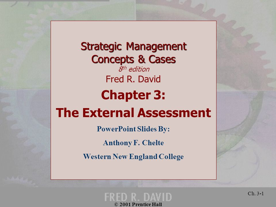 The External Assessment Western New England College