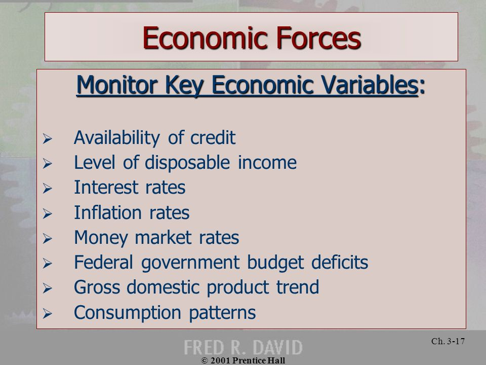 Monitor Key Economic Variables: