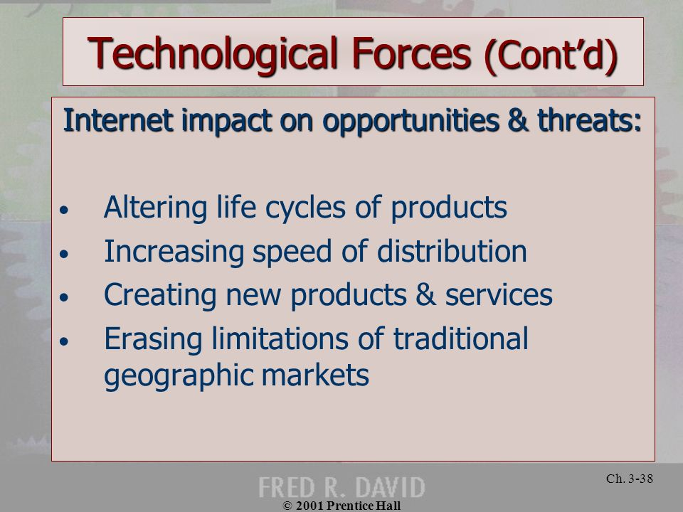 Technological Forces (Cont'd)