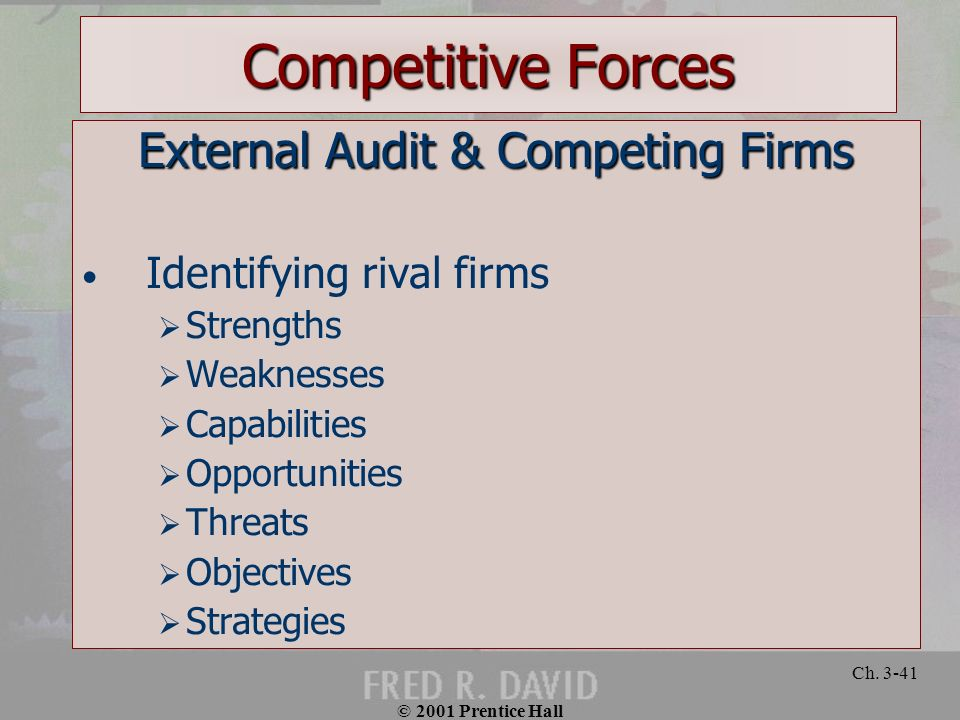 External Audit & Competing Firms