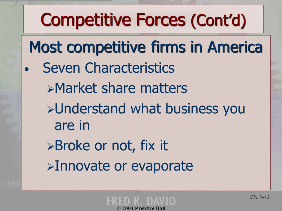 Competitive Forces (Cont'd)