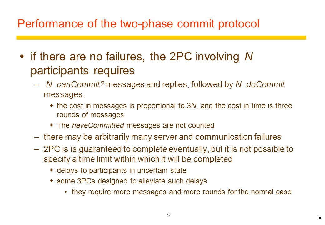 Performance of the two-phase commit protocol