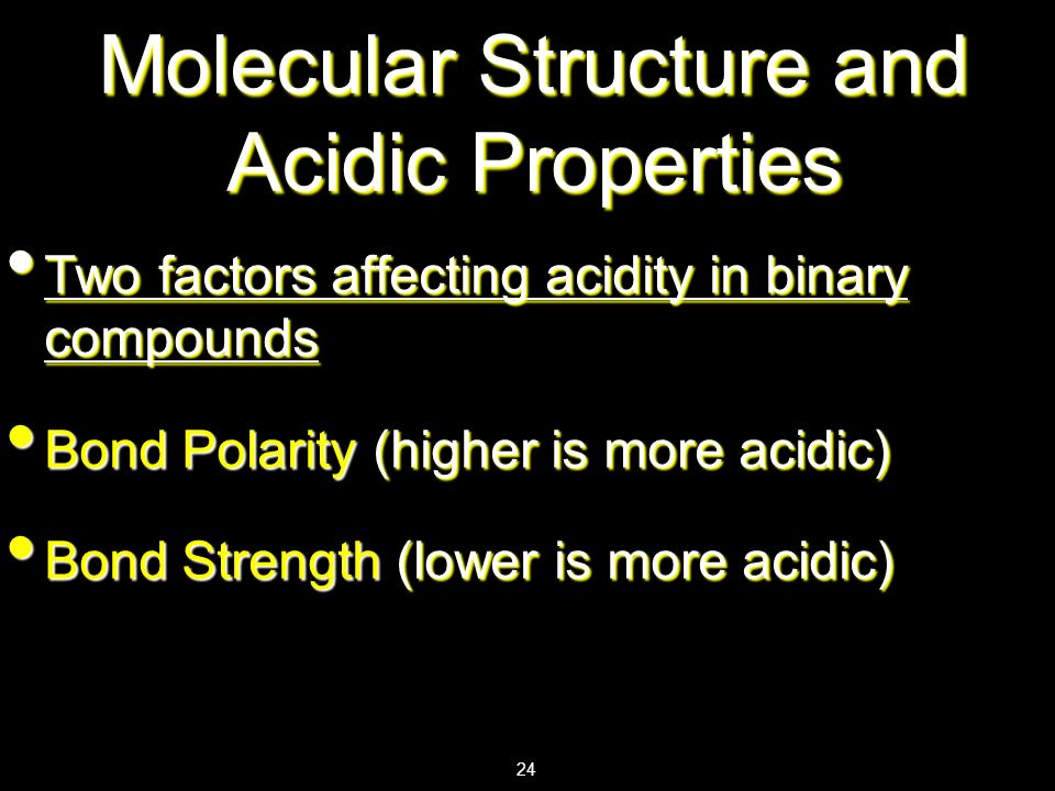 Molecular Structure and Acidic Properties
