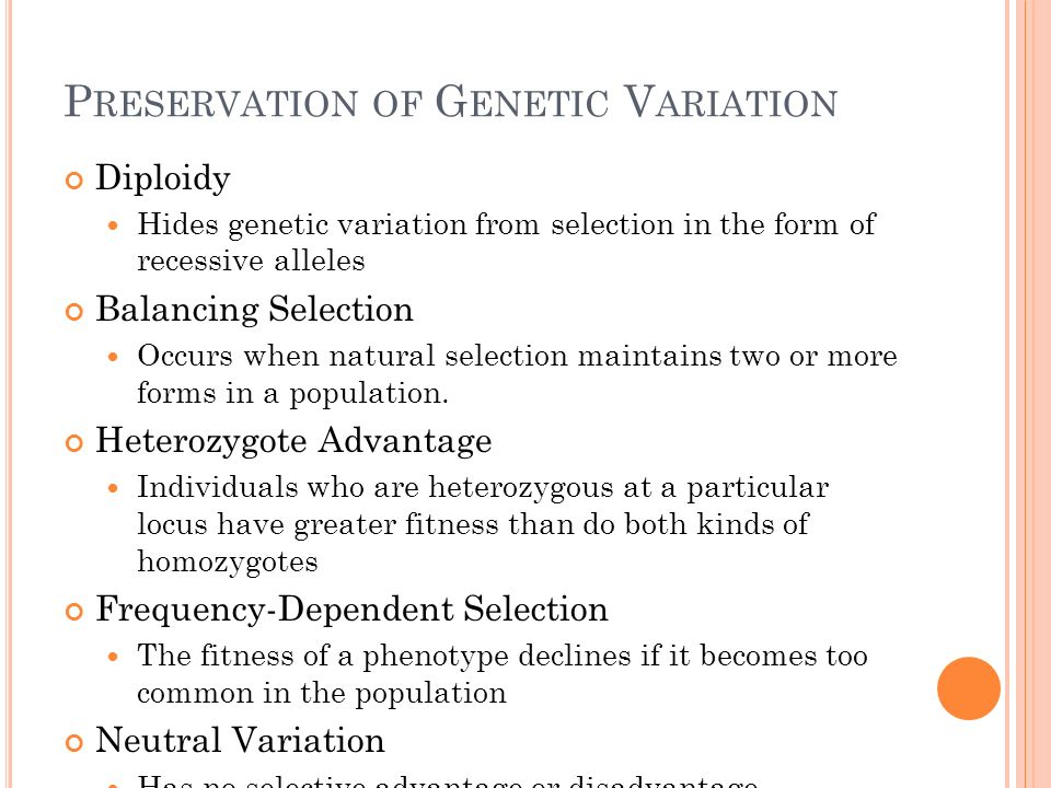 Preservation of Genetic Variation