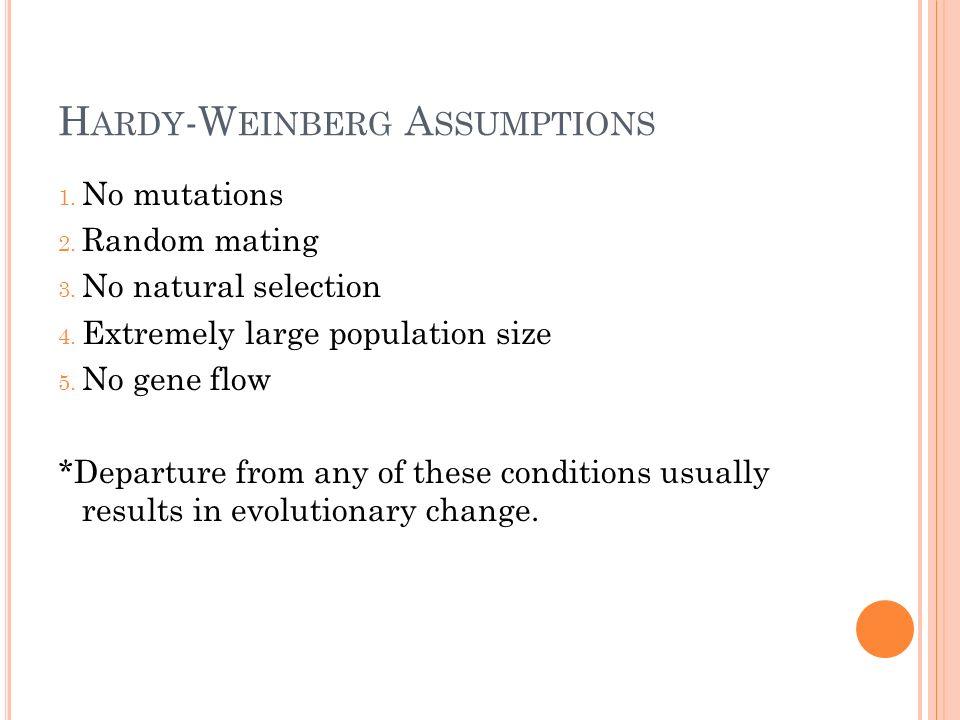Hardy-Weinberg Assumptions