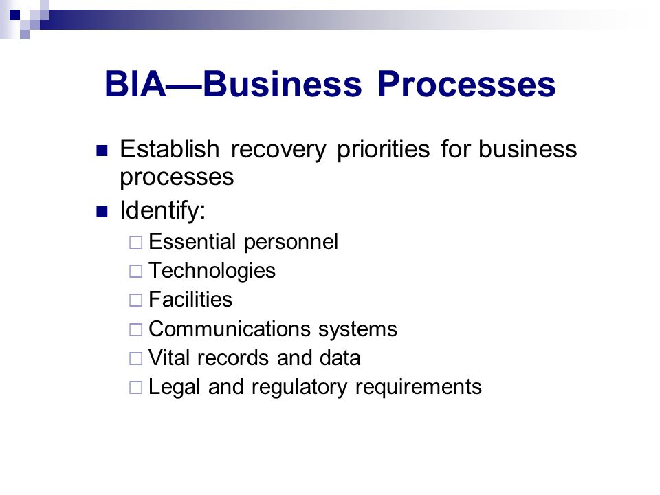 BIA—Business Processes