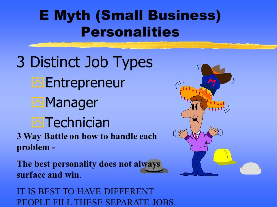 E Myth (Small Business) Personalities