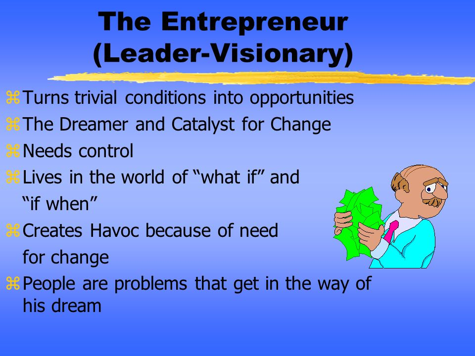 The Entrepreneur (Leader-Visionary)