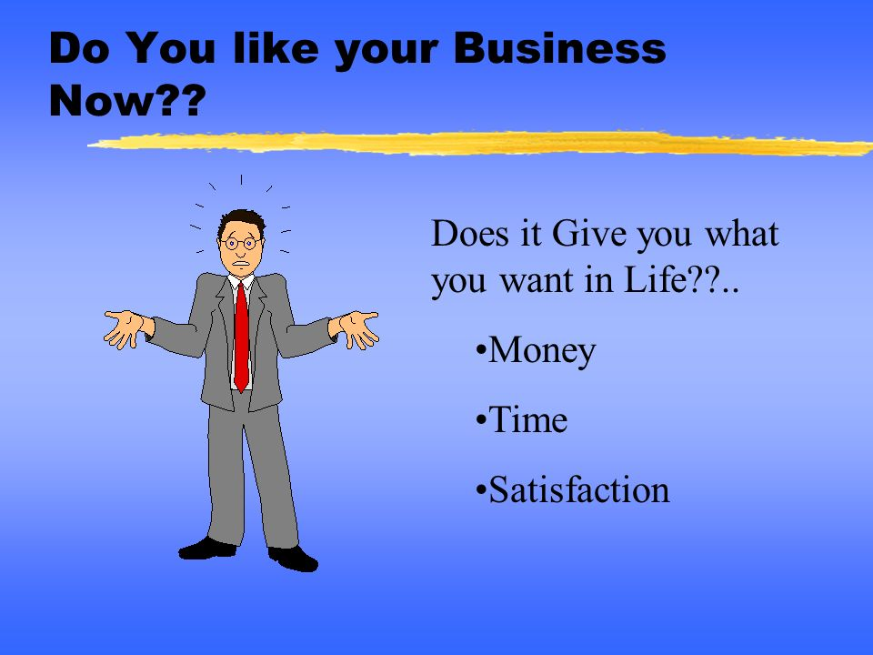 Do You like your Business Now