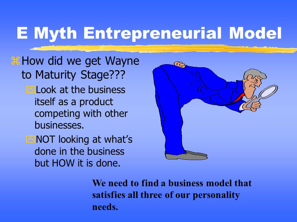 E Myth Entrepreneurial Model