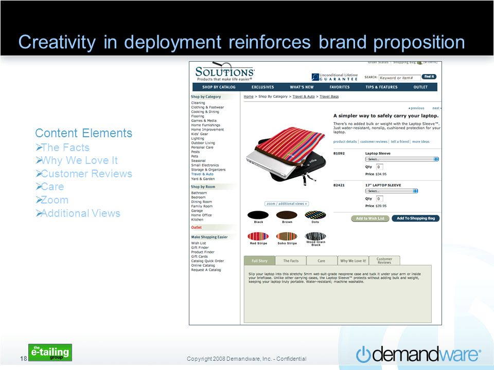 Creativity in deployment reinforces brand proposition