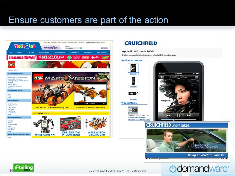 Ensure customers are part of the action