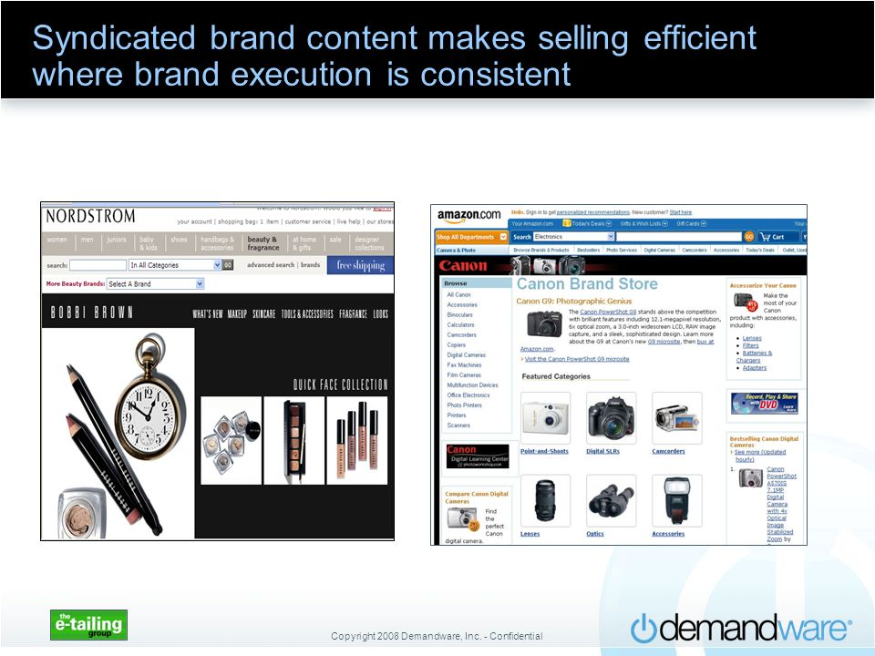 Syndicated brand content makes selling efficient where brand execution is consistent