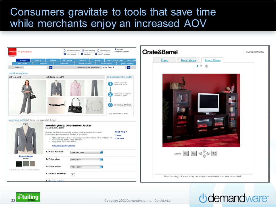 Consumers gravitate to tools that save time while merchants enjoy an increased AOV