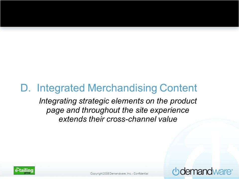 D. Integrated Merchandising Content