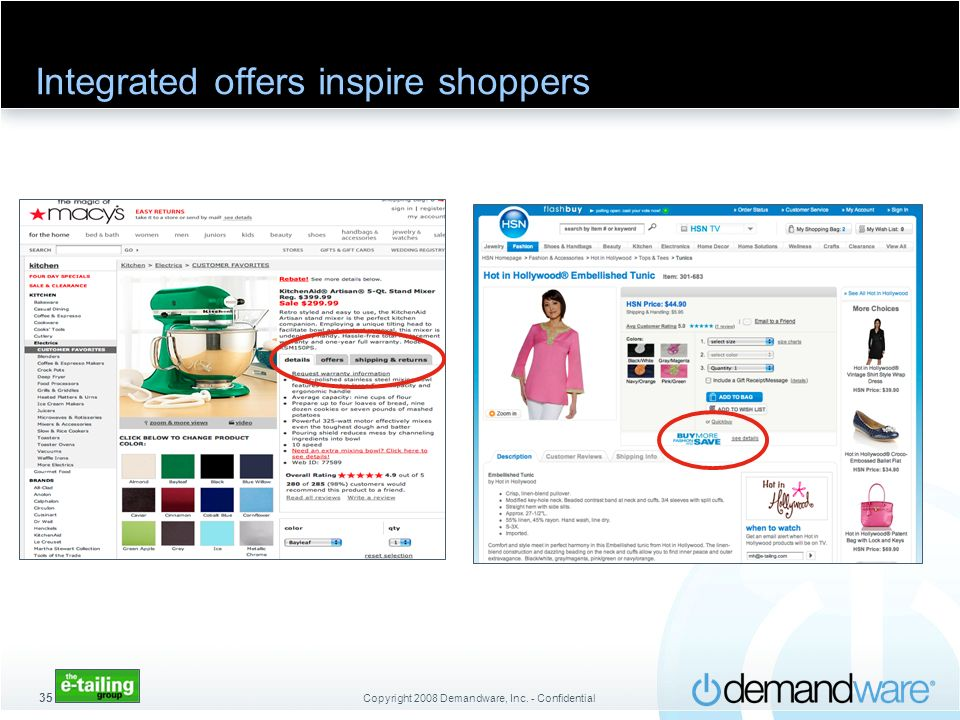 Integrated offers inspire shoppers