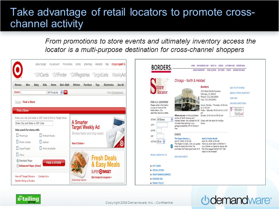 Take advantage of retail locators to promote cross-channel activity