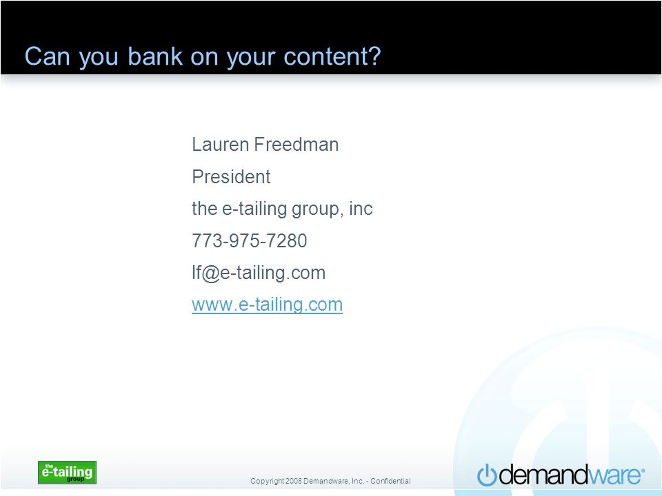 Can you bank on your content
