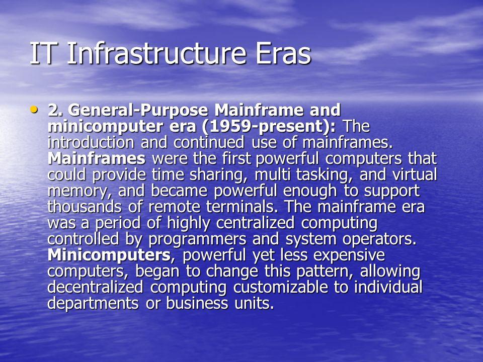 IT Infrastructure Eras