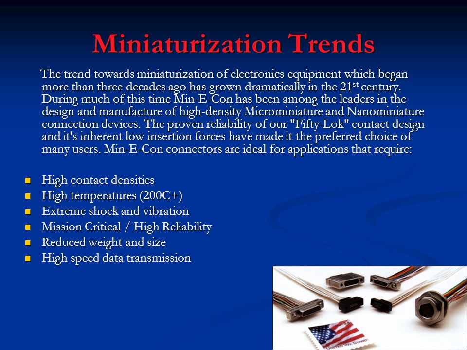 Miniaturization Trends
