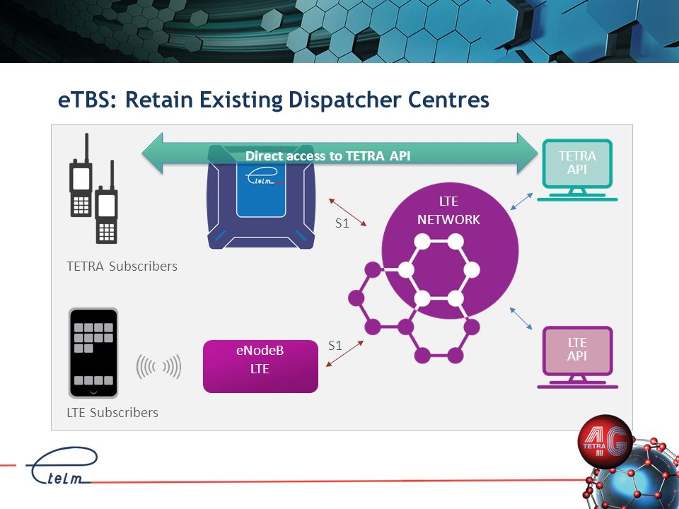 eTBS: Retain Existing Dispatcher Centres
