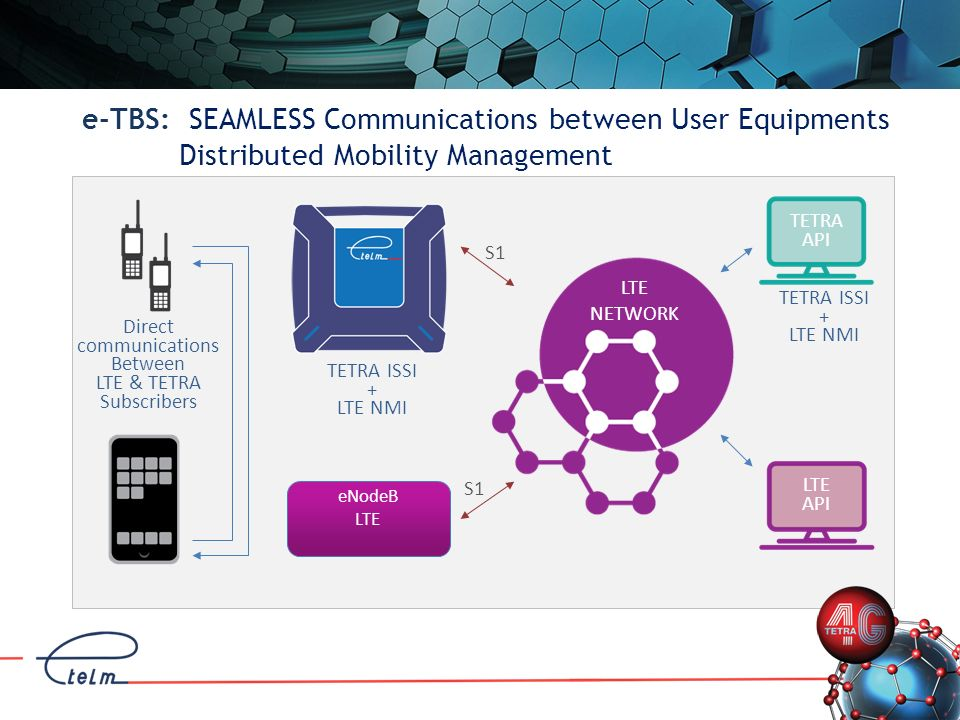e-TBS: SEAMLESS Communications between User Equipments Distributed Mobility Management